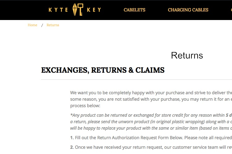2018 Return Amp Refund Policy Templates
